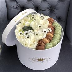 Deluxe Macarons box White