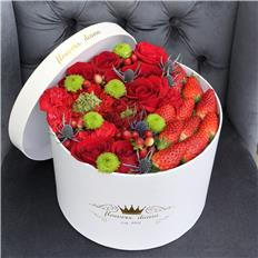 Deluxe Red Green Strawberry box
