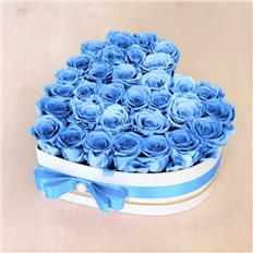 Heart Deluxe box Light Blue