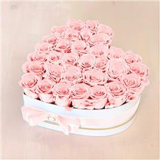 Heart Deluxe box Light Pink